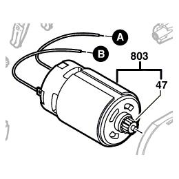 Bosch 2609120083 Moteur 12V à Courant Continu de perceuse PSR1200