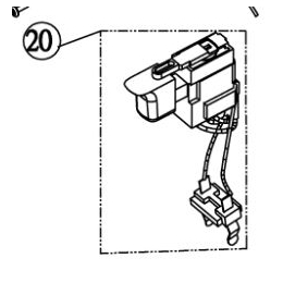 Ryobi Interrupteur de perceuse 18V CDI1830 (5131000506)