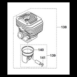 Makita 325130035 Kit Cylindre + Piston découpeuse Thermique
