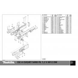 Makita 629565-9 Moteur 7.2V pour 6912D
