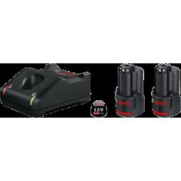 Bosch Starter Set GBA 12V 2.0Ah + Chargeur GAL 12V-40 (1600A019R8)