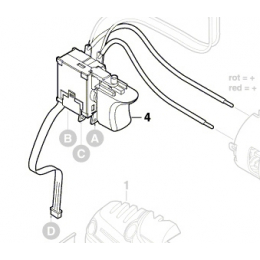 Bosch 2607202195 Commutateur Perceuse PSB18LI-2