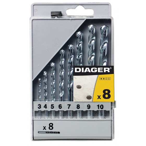 Coffret plastique 8 Forets béton DIAGER 250C