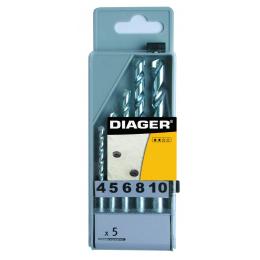 Coffret plastique 5 Forets béton DIAGER 252C