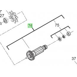 AEG Induit Meuleuse WS8-115, WS8-125, WS7-115 (4931453649)
