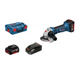 Bosch GWS 18-125 V-LI Professional Meuleuse Angulaire Sans Fil 2x4.0Ah + L-Boxx (060193A30B)