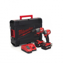 Milwaukee Malette HD Box Taille 1 Perceuse + Visseuse 18V M18FPP2A2