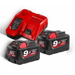 Milwaukee Pack M18NRG-902 avec 2 Batteries 18V 9.0Ah et Chargeur Rapide M12-18FC (4933451422)