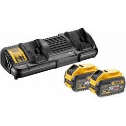 Dewalt DCB132X2-QW Pack de 2 Batteries et Chargeur Double XR Flexvolt 18V/54V 2x9.0Ah