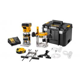 Dewalt DCW604P2 Affleureuse, Défonceuse XR 18V Brushless 2x5.0Ah + T-STAK
