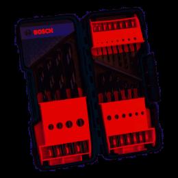 Bosch Coffret de 19 Forets à métaux Point TeQ ø1 à 10mm ToughBox (2608577350)