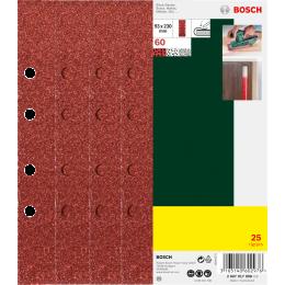 Bosch Set de 25 abrasifs pour Ponceuse vibrante 93x230mm