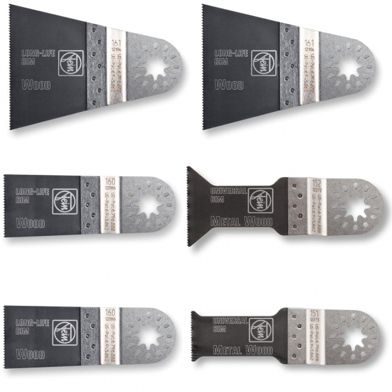 Fein Coffret de 6 Lames E-Cut 63502152150