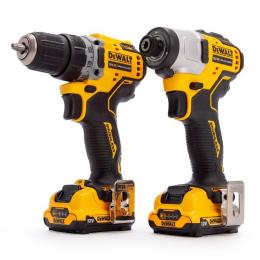 Dewalt DCK2110L2T-QW Kit 2 outils XR 12V 2x3.0Ah DCD701 + DCD801