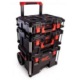 Milwaukee Set Packout 3 Pieces Trolley + 2 Coffrets (4932464244)