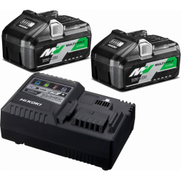 Hikoki UC18YSL3WEZ Kit de 2 Batteries BSL36A18 + Chargeur UC18YSL3