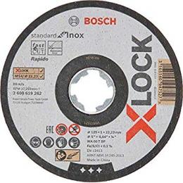 Bosch x10 Disques à tronçonner droits X-LOCK Standard for Inox ø125x1mm (2608619267)