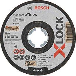 Bosch x10 Disques à tronçonner droits X-LOCK Standard for Inox ø115x1mm (2608619266)