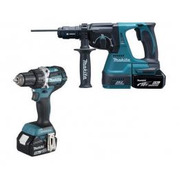 Makita 838095-1 Moulage 2 Machines 18V DLX2191TJ