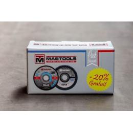 Mabtools Boite de 50 Disques 125x1.6 + 10 Disques à lamelles ø125mm Grain 40 (MKTPACKDP)