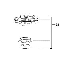 AEG 201620001 Ventilateur avec roulement pour ponceuse EX125ES