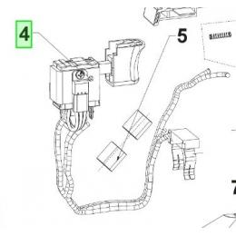 Ryobi 5131037639 Interrupteur complet de scie sabre R18RS