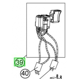 Ryobi 5131029517 Interrupteur complet de scie sabre RRS1801