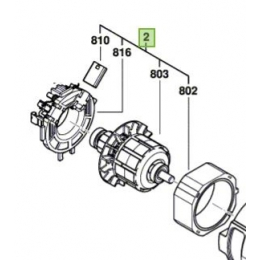 Bosch 160702267M Moteur 18V à Courant Continu pour boulonneuse à choc