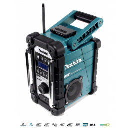 Makita DMR110B Radio de chantier Bluetooth & DAB 7,2 à 18 V Li-Ion (Produit seul)