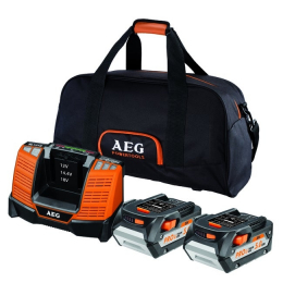 AEG SETLL1850BL Set de 2 batteries 18V 5.0Ah L1850R  + Chargeur rapide BL1418