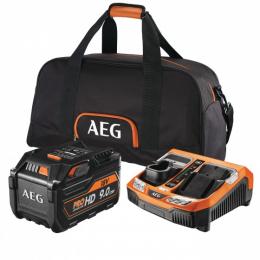 AEG SETL1890RHDBLK Set de 1 batterie 18V 9.0Ah L1890HD  + Chargeur rapide BLK1218 (4932464232)