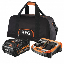 AEG SETL1860RHDBLK Set de 1 batterie 18V 6.0Ah L1860HD  + Chargeur rapide BLK1218 (4932464756)
