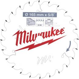 Milwaukee Lame de scie circulaire Bois Ø165x16x24Dts ATB (4932471311)