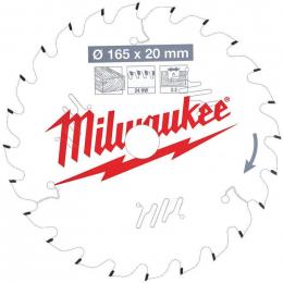Milwaukee Lame de scie circulaire Bois Ø165x20x24Dts ATB (4932471294)