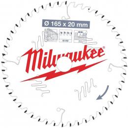 Milwaukee Lame de scie circulaire Bois Ø165x20x48Dts ATB (4932471295)