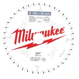 Milwaukee Lame de scie circulaire Bois Ø190x30x40Dts ATB (4932471314)