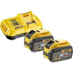 Dewalt DCB118Y2-QW Pack de 2 Batteries Flexvolt 54V 12.0Ah et 1 Chargeur DCB118