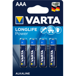 Varta 4x Piles Alcaline AAA LR03 Longlife Power (4903)