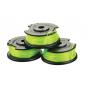Ryobi RAC143 Lot 3 bobines simple fil torsadé Ø 2,0 mm pour coupe-bordures sur batterie (5132002770)