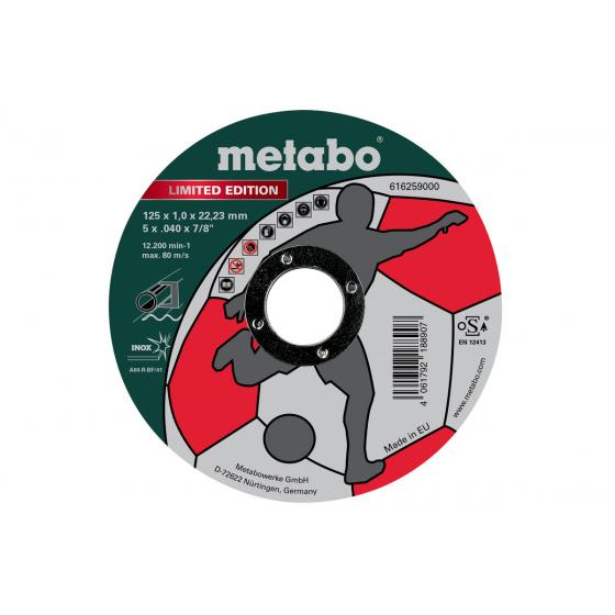 Metabo 10 Disques à tronçonner ø125x1.0mm Inox (616259000)