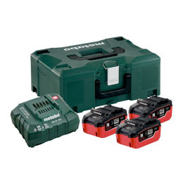 Metabo Pack de Batteries Li-ion HD 18V 3x5.5Ah + Chargeur ASC145 + Coffret Metaloc (685069000)