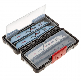 Bosch Coffret de 20 lames de scie sabre Wood and Metal + Tough Box (2607010902)
