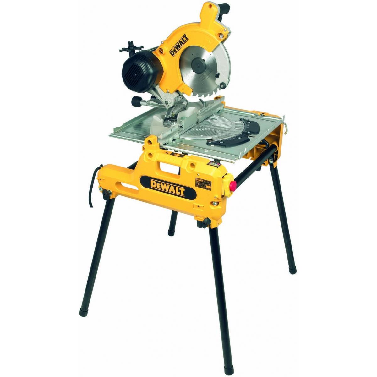 Dewalt DW7N-QS Scie sur table et onglets réversible 7W ø7mm