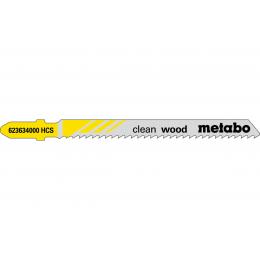 Metabo Lot de 5 lames de scie sauteuse 74mm pour le bois (623634000)