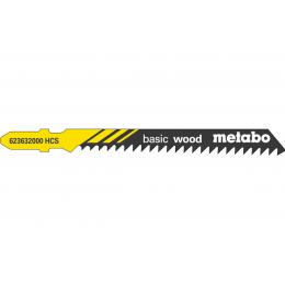 Metabo Lot de 5 lames de scie sauteuse 74mm pour le bois (623632000)