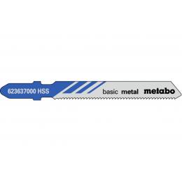 Metabo Lot de 5 lames de scie sauteuse 74mm pour le métal (623637000)