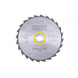 Metabo Lame de Scie Circulaire ø254x30x2.4 20Dts Bois Power cut wood (628025000)