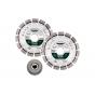 Metabo Lot de x2 Disques ø125mm à tronçonner diamant + 1 Écrou de serrage rapide (628582000)