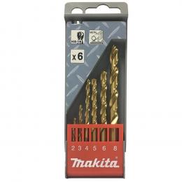 Makita D-43555 Coffret de 6 Forets métal TiN