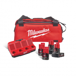 Milwaukee M12 NRG-424B Ensemble de batteries et chargeur + sac de transport (4933471772)